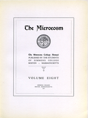 Page 6, 1917 Edition, Simmons College - Microcosm Yearbook (Boston, MA) online yearbook collection