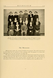 Page 17, 1934 Edition, Simmons College - Microcosm Yearbook (Boston, MA) online yearbook collection
