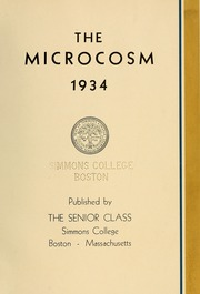 Page 9, 1934 Edition, Simmons College - Microcosm Yearbook (Boston, MA) online yearbook collection