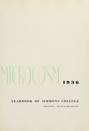 Page 7, 1936 Edition, Simmons College - Microcosm Yearbook (Boston, MA) online yearbook collection