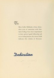 Page 10, 1938 Edition, Simmons College - Microcosm Yearbook (Boston, MA) online yearbook collection