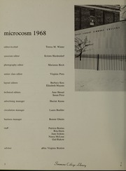 Page 6, 1968 Edition, Simmons College - Microcosm Yearbook (Boston, MA) online yearbook collection