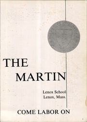 Page 5, 1962 Edition, Lenox School - Martin Yearbook (Lenox, MA) online yearbook collection