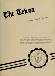 Page 5, 1954 Edition, Westfield State University - Tekoa Yearbook (Westfield, MA) online yearbook collection