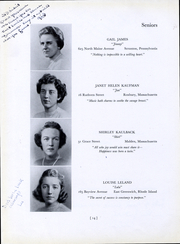 Page 16, 1940 Edition, Bouve Boston School of Physical Education - Escutcheon Yearbook (Boston, MA) online yearbook collection
