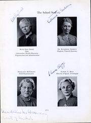 Page 8, 1940 Edition, Bouve Boston School of Physical Education - Escutcheon Yearbook (Boston, MA) online yearbook collection