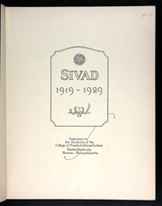 Page 7, 1929 Edition, Boston University College of Practical Arts and Letters - Sivad Yearbook (Boston, MA) online yearbook collection