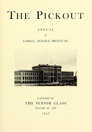 Page 7, 1930 Edition, Lowell Technological Institute - Pickout Yearbook (Lowell, MA) online yearbook collection