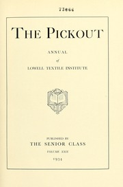 Page 7, 1934 Edition, Lowell Technological Institute - Pickout Yearbook (Lowell, MA) online yearbook collection