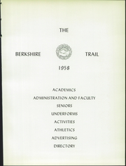 Page 11, 1958 Edition, Berkshire School - Trail Yearbook (Sheffield, MA) online yearbook collection