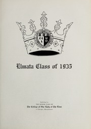 Page 7, 1935 Edition, Elms College - Elmata Yearbook (Chicopee, MA) online yearbook collection