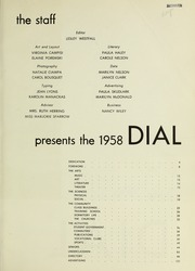 Page 5, 1958 Edition, Framingham State University - Dial Yearbook (Framingham, MA) online yearbook collection