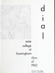 Page 5, 1962 Edition, Framingham State University - Dial Yearbook (Framingham, MA) online yearbook collection