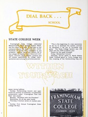Page 8, 1979 Edition, Framingham State University - Dial Yearbook (Framingham, MA) online yearbook collection