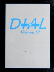 Page 1, 1985 Edition, Framingham State University - Dial Yearbook (Framingham, MA) online yearbook collection