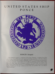 Page 5, 1995 Edition, Ponce (LPD 15) - Naval Cruise Book online yearbook collection