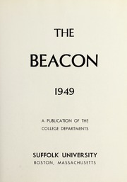 Page 7, 1949 Edition, Suffolk University - Beacon Yearbook (Boston, MA) online yearbook collection