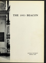 Page 7, 1953 Edition, Suffolk University - Beacon Yearbook (Boston, MA) online yearbook collection