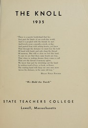 Page 5, 1935 Edition, University of Massachusetts Lowell - Knoll Yearbook (Lowell, MA) online yearbook collection