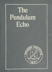 1955 Edition, Powers Institute - Pendulum Echo Yearbook (Bernardston, MA)