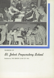 Page 7, 1953 Edition, St Johns Preparatory School - Spire Yearbook (Danvers, MA) online yearbook collection