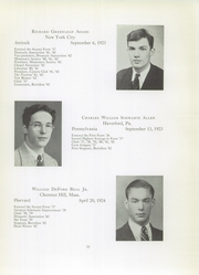 Page 13, 1942 Edition, Brooks School - Bishop Yearbook (North Andover, MA) online yearbook collection