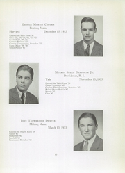 Page 15, 1942 Edition, Brooks School - Bishop Yearbook (North Andover, MA) online yearbook collection