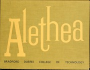 Page 1, 1959 Edition, Bradford Durfee College of Technology - Alethea Yearbook (Fall River, MA) online yearbook collection