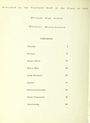 Page 4, 1957 Edition, Whitman High School - Spotlight Yearbook (Whitman, MA) online yearbook collection
