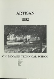 Page 5, 1982 Edition, McCann Technical School - Artisan Yearbook (North Adams, MA) online yearbook collection