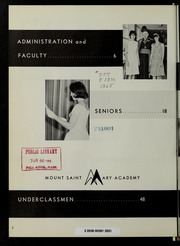 Page 6, 1965 Edition, Mount St Marys Academy - Mercycrest Yearbook (Fall River, MA) online yearbook collection