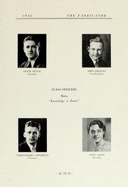 Page 17, 1935 Edition, New Bedford Institute of Technology - Fabricator Yearbook (New Bedford, MA) online yearbook collection
