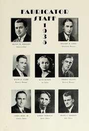 Page 9, 1935 Edition, New Bedford Institute of Technology - Fabricator Yearbook (New Bedford, MA) online yearbook collection