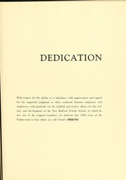 Page 13, 1939 Edition, New Bedford Institute of Technology - Fabricator Yearbook (New Bedford, MA) online yearbook collection