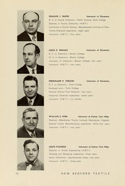 Page 14, 1949 Edition, New Bedford Institute of Technology - Fabricator Yearbook (New Bedford, MA) online yearbook collection