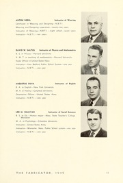 Page 15, 1949 Edition, New Bedford Institute of Technology - Fabricator Yearbook (New Bedford, MA) online yearbook collection