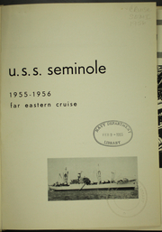Page 6, 1956 Edition, Seminole (AKA 104) - Naval Cruise Book online yearbook collection