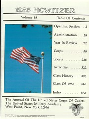 Page 5, 1985 Edition, United States Military Academy West Point - Howitzer Yearbook (West Point, NY) online yearbook collection