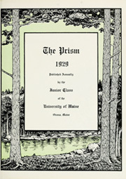 Page 9, 1929 Edition, University of Maine - Prism Yearbook (Orono, ME) online yearbook collection