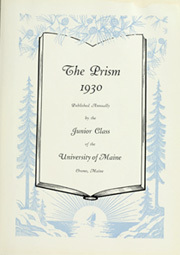 Page 9, 1930 Edition, University of Maine - Prism Yearbook (Orono, ME) online yearbook collection