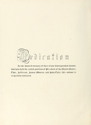 Page 8, 1901 Edition, College of William and Mary - Colonial Echo Yearbook (Williamsburg, VA) online yearbook collection