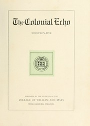 Page 7, 1905 Edition, College of William and Mary - Colonial Echo Yearbook (Williamsburg, VA) online yearbook collection