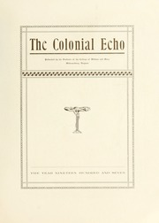 Page 7, 1907 Edition, College of William and Mary - Colonial Echo Yearbook (Williamsburg, VA) online yearbook collection