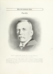 Page 15, 1912 Edition, College of William and Mary - Colonial Echo Yearbook (Williamsburg, VA) online yearbook collection