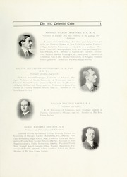 Page 17, 1912 Edition, College of William and Mary - Colonial Echo Yearbook (Williamsburg, VA) online yearbook collection