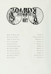 Page 16, 1915 Edition, College of William and Mary - Colonial Echo Yearbook (Williamsburg, VA) online yearbook collection