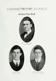 Page 17, 1915 Edition, College of William and Mary - Colonial Echo Yearbook (Williamsburg, VA) online yearbook collection
