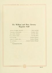 Page 141, 1921 Edition, College of William and Mary - Colonial Echo Yearbook (Williamsburg, VA) online yearbook collection