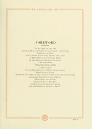 Page 15, 1921 Edition, College of William and Mary - Colonial Echo Yearbook (Williamsburg, VA) online yearbook collection