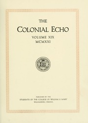 Page 7, 1921 Edition, College of William and Mary - Colonial Echo Yearbook (Williamsburg, VA) online yearbook collection